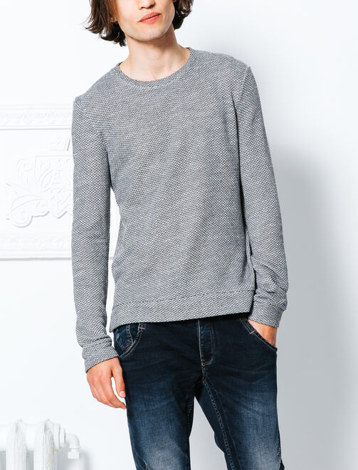 Pull coupe loose matière fantaisie homme