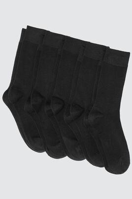 Lot *5 Chaussettes Bazzic Noires Coton IAB