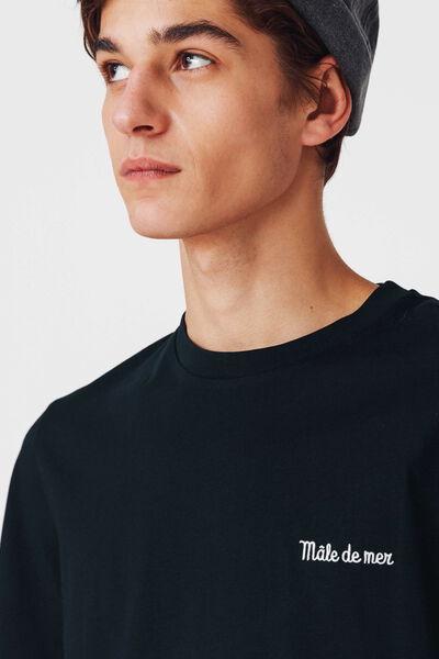 T-shirt brodé humour - coton bio