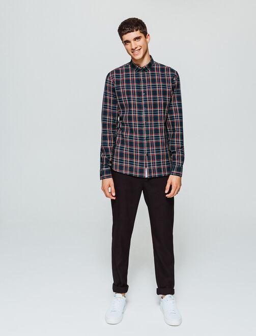 Chemise à carreaux esprit tartan homme