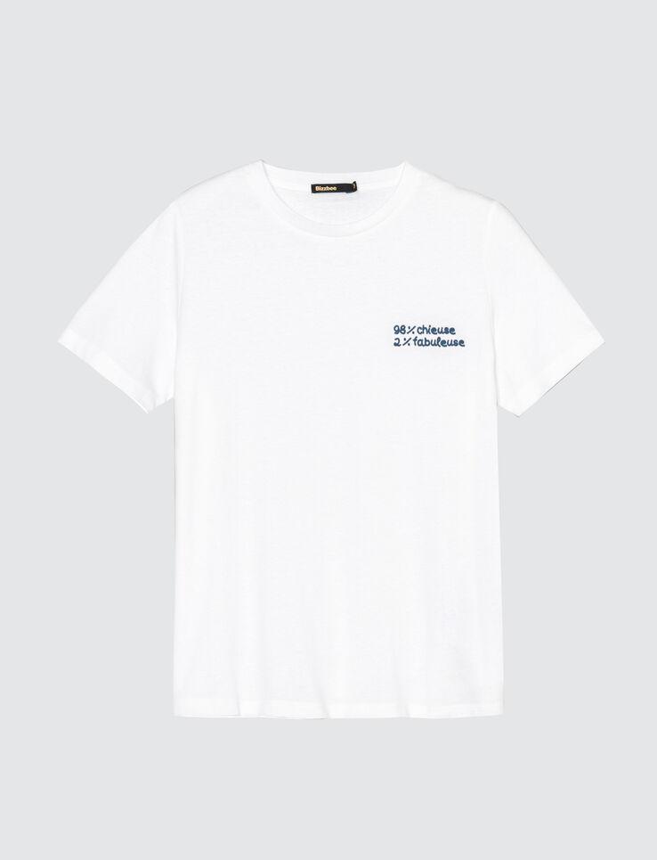 """T-shirt à message """"Melle cœur"""" en coton biologique"""