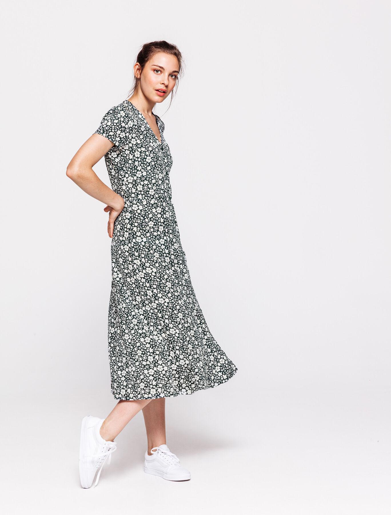 Robe longue imprimée
