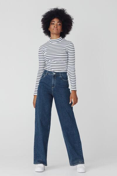 Jean Wide Leg Long Coton Recyclé