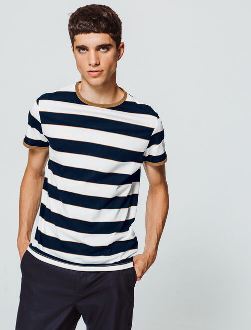 T-shirt rayé homme
