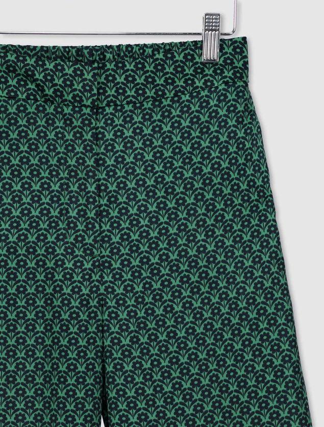 Pantalon Satin Imprimée Polyester Recyclé