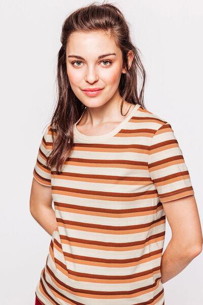 T-shirt rayé en coton bio