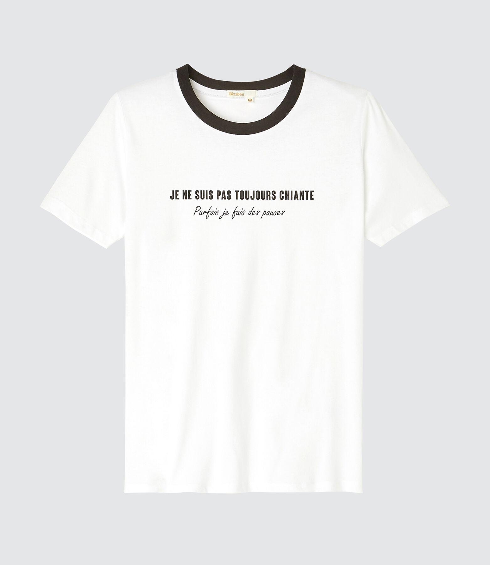 """T-shirt message """"pas toujours chiante"""""""