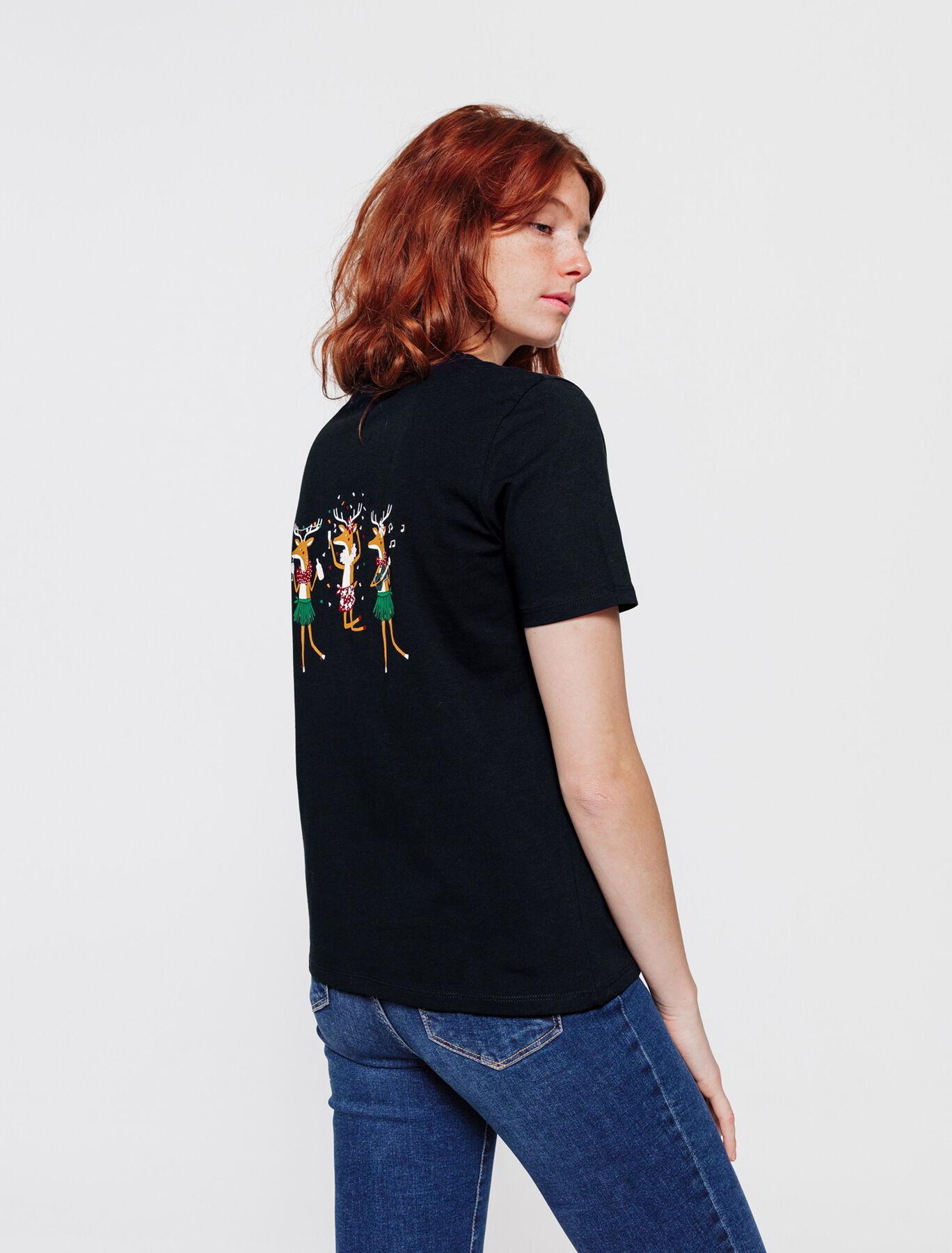 T-shirt en coton bio humour Noël