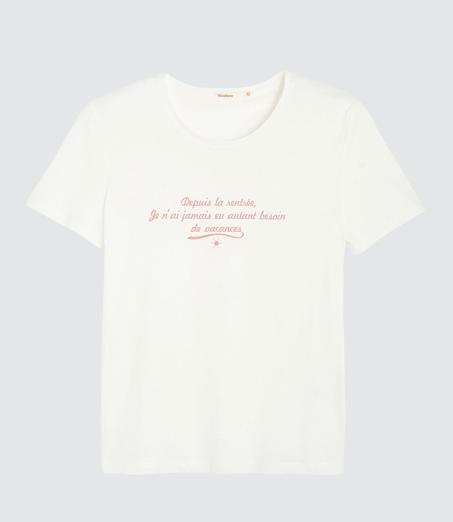"""T-shirt à message """"besoin de vacances"""""""