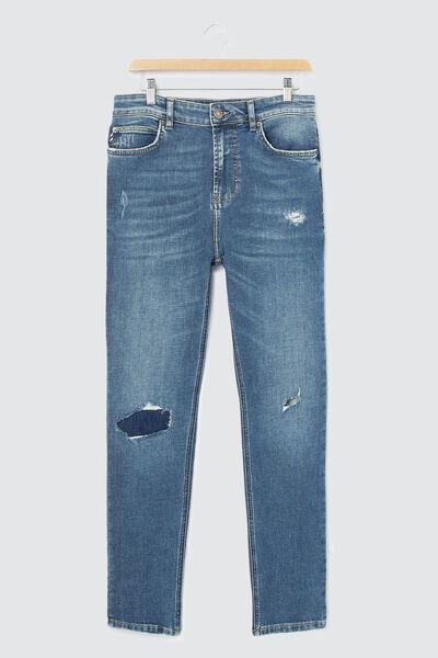 Jean slim tapered brut used destroy