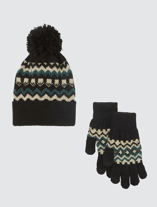 Set bonnet gants femme