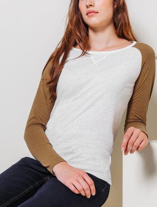 T-shirt manches Raglan Bicolores femme