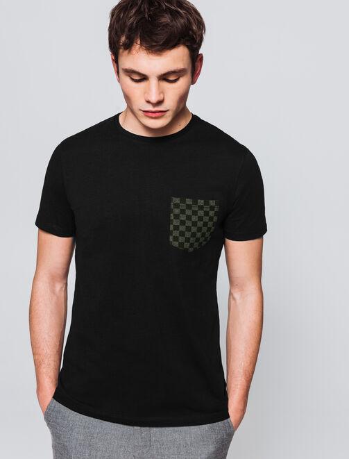 T-shirt poche imprimé all over  homme