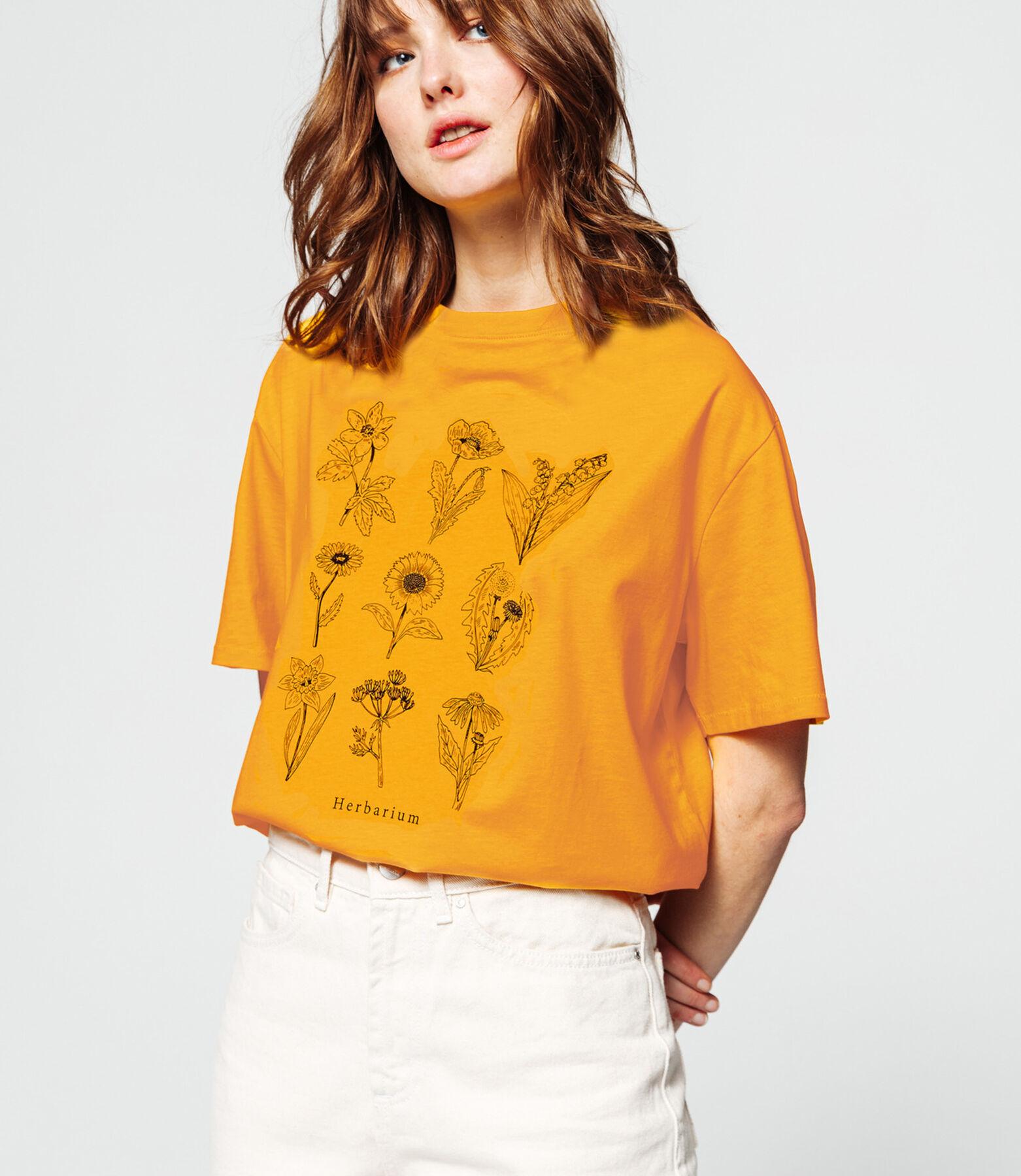 T-shirt imprimé herbier en coton IAB