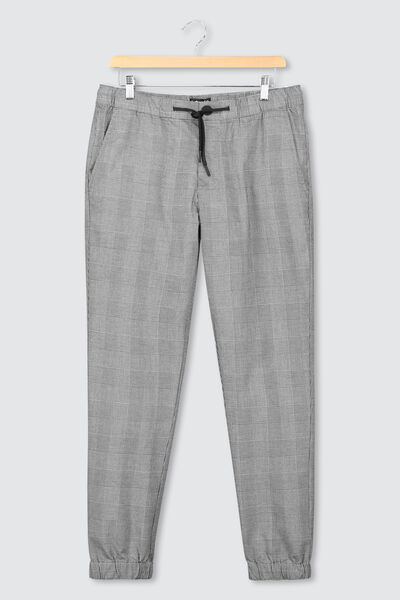 pantalon jogger à carreaux