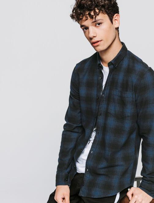 Chemise flanelle à carreaux homme