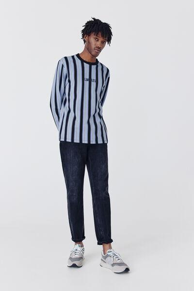T-shirt à rayures brodé