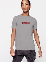 T-shirt avec neps et print poitrine