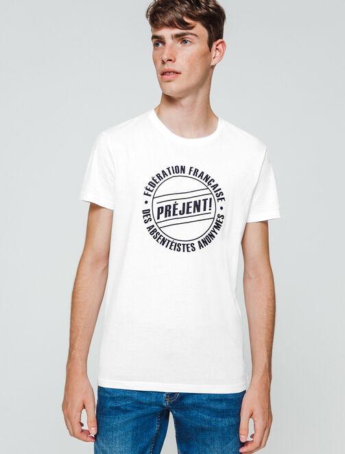 """T-shirt humour """"Préjent"""" homme"""