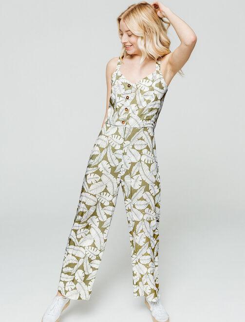 Combi-pantalon imprimée  femme