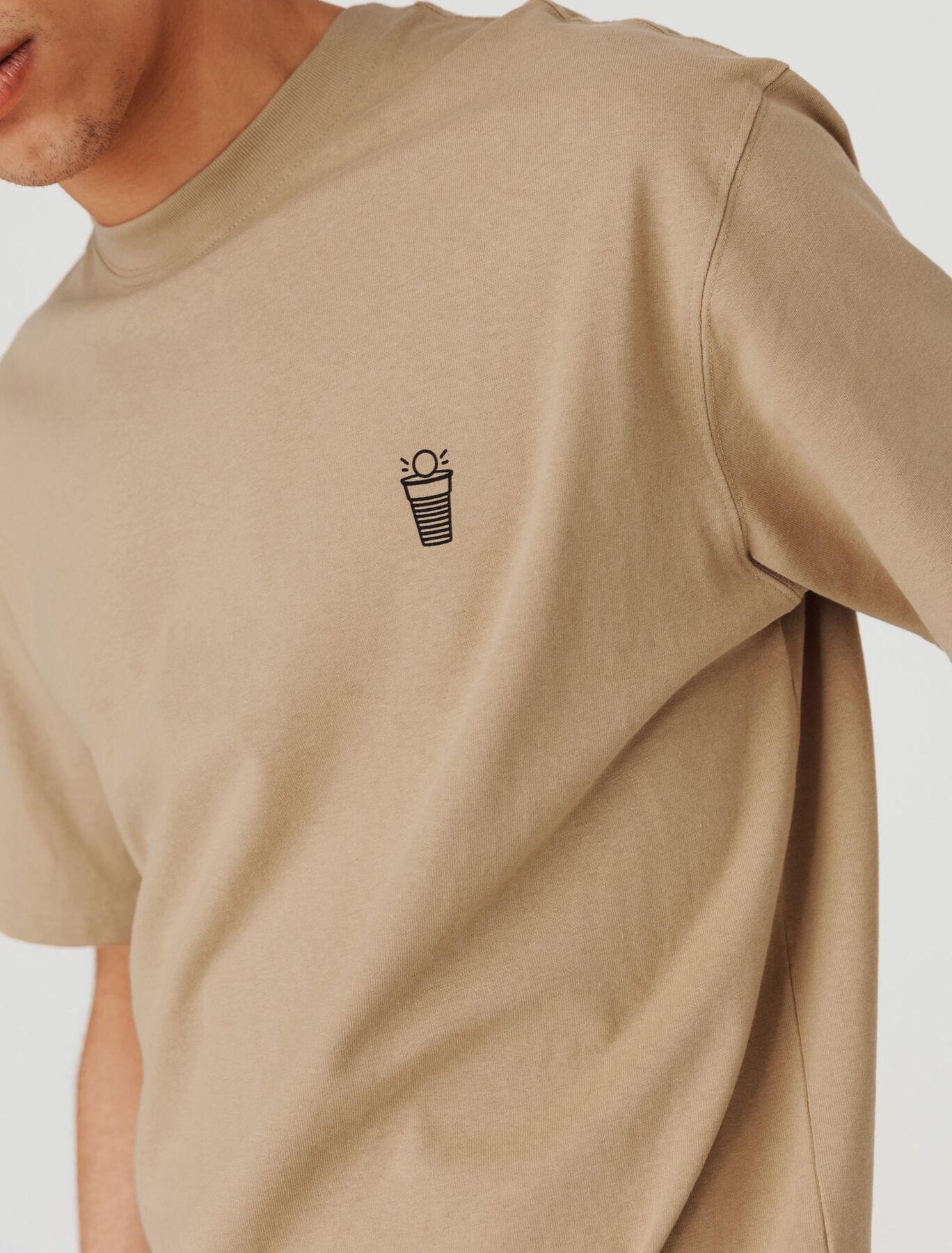 """T-shirt imprimé devant dos """"Beer pong"""""""