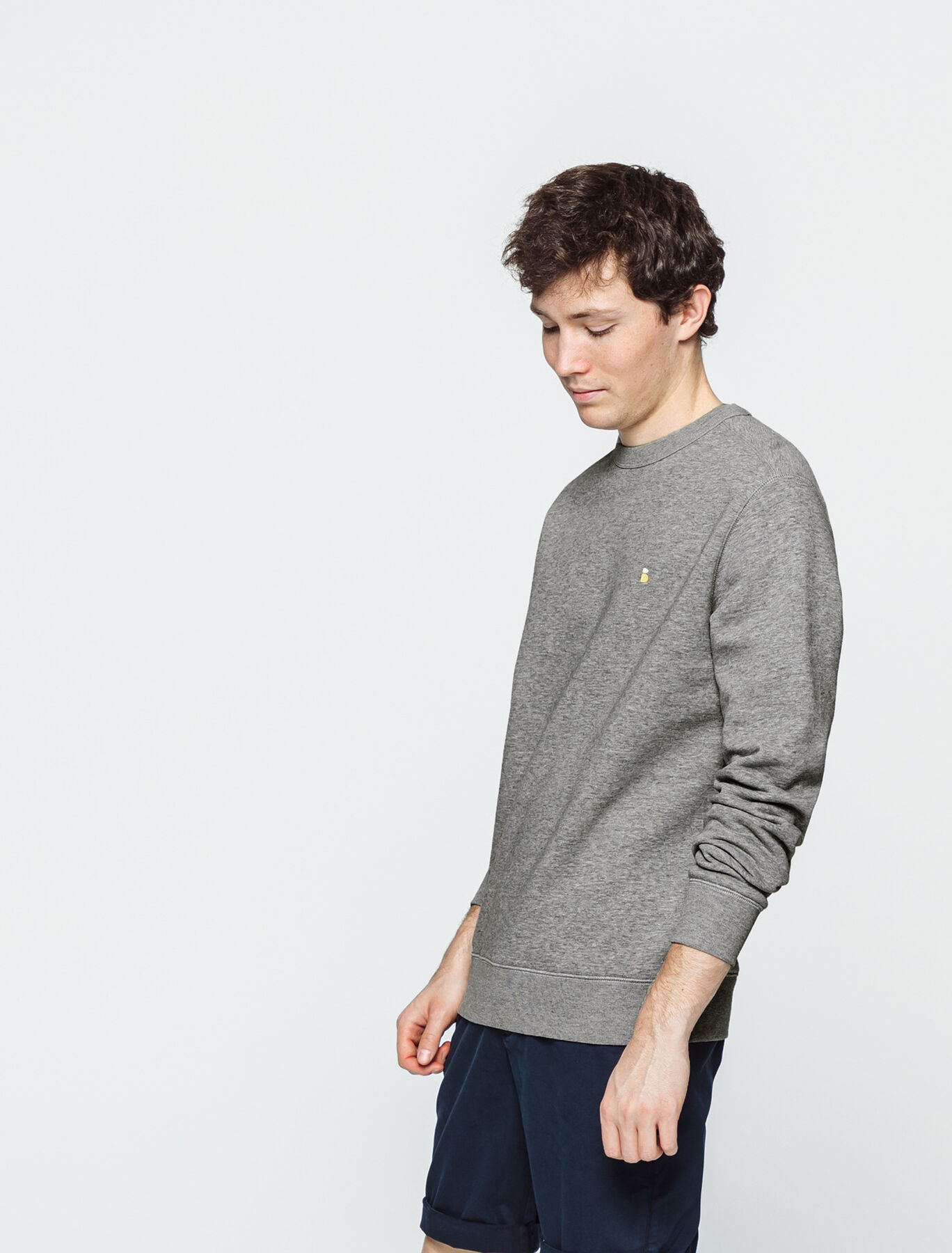 Sweat col rond oversize avec broderie