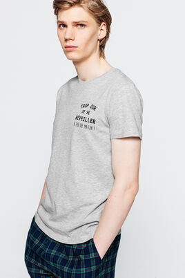 """Tee Shirt Pyjama """" trop dur de se réveiller à 14h"""