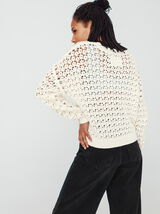 Pull maille ruban ajouré