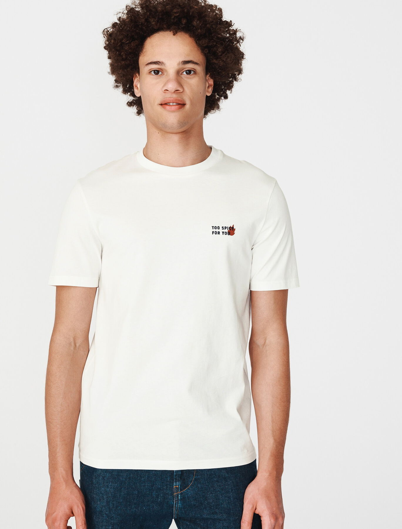 """T-shirt humour """"too spicy for you"""" en coton BIO"""
