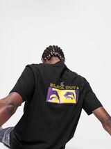 T-shirt lourd avec imprimé devant dos