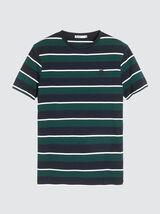 T-shirt rayé blason poitrine