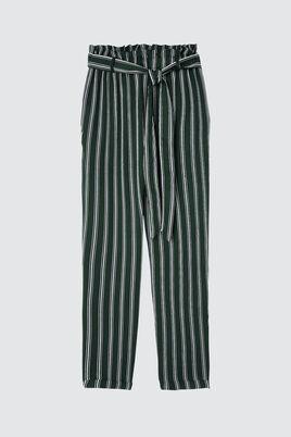 Pantalon Paperbag Fluide Rayé