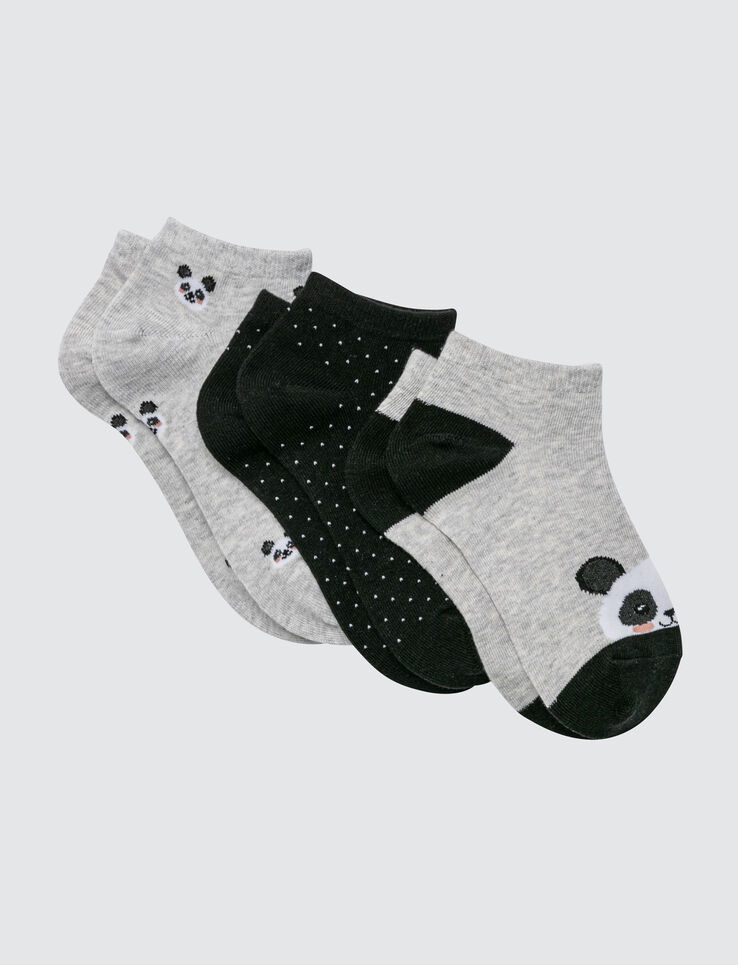 Lot de 3 Socquettes Panda