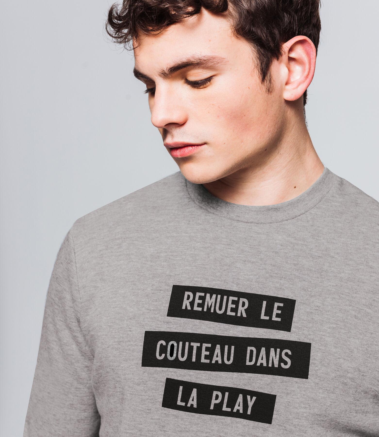"""Sweat message """"couteau dans la play"""""""