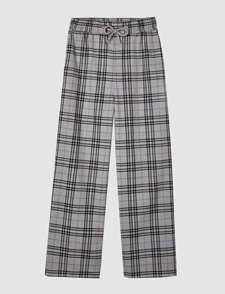 Pantalon cône carreaux