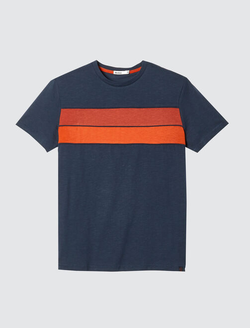 T-shirt bandes colorblock homme