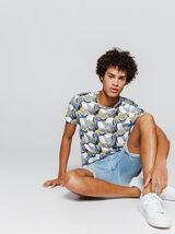 T-shirt allover print agrumes