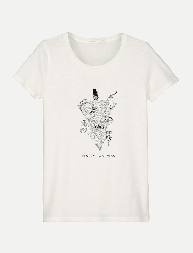 "T-shirt message ""HAPPY CATMAS"""
