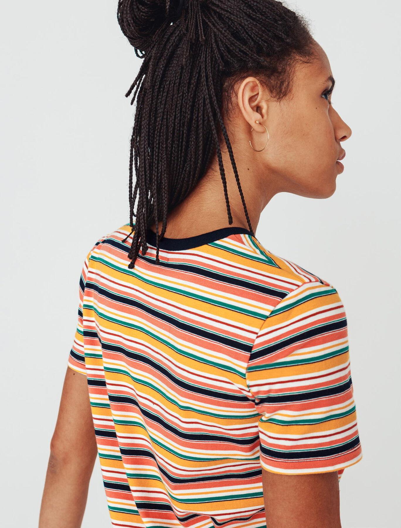 T-shirt rayures en coton bio