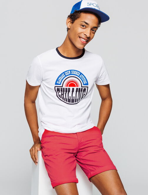 "T-shirt imprimé message ""Chilling"" homme"