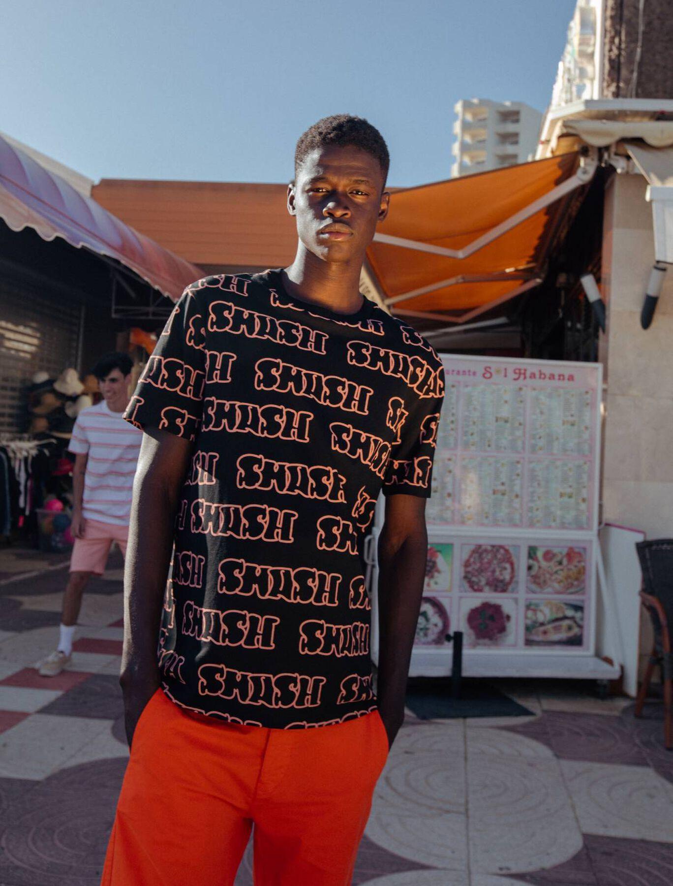 """T-shirt imprimé """"smash"""""""
