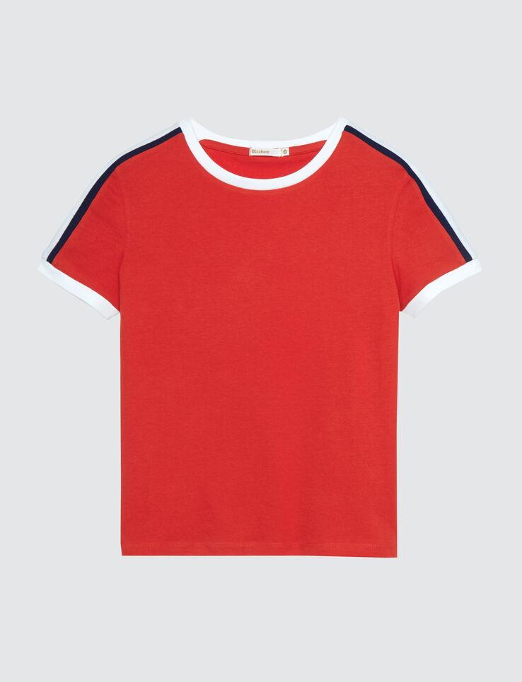 T-shirt bandes épaules