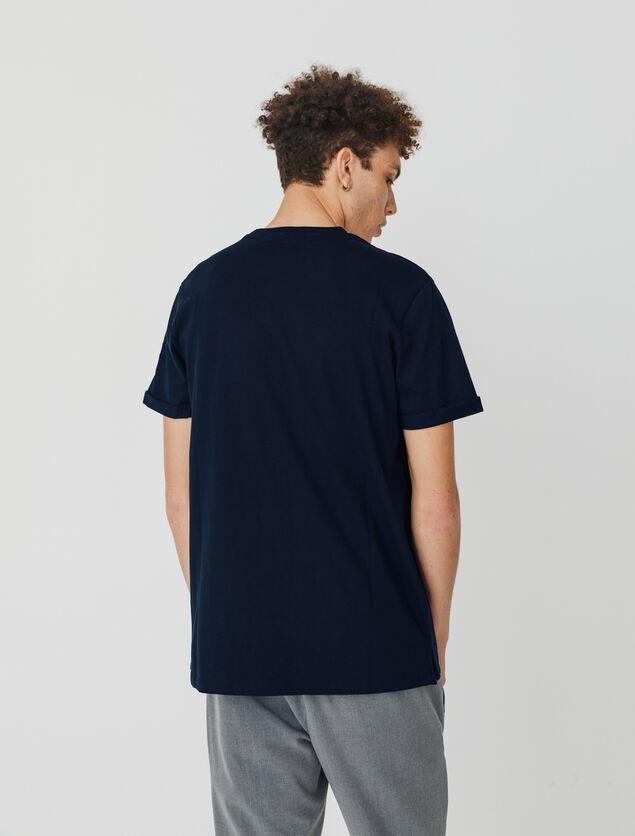 T-shirt uni en coton issu de l'agriculture biologi