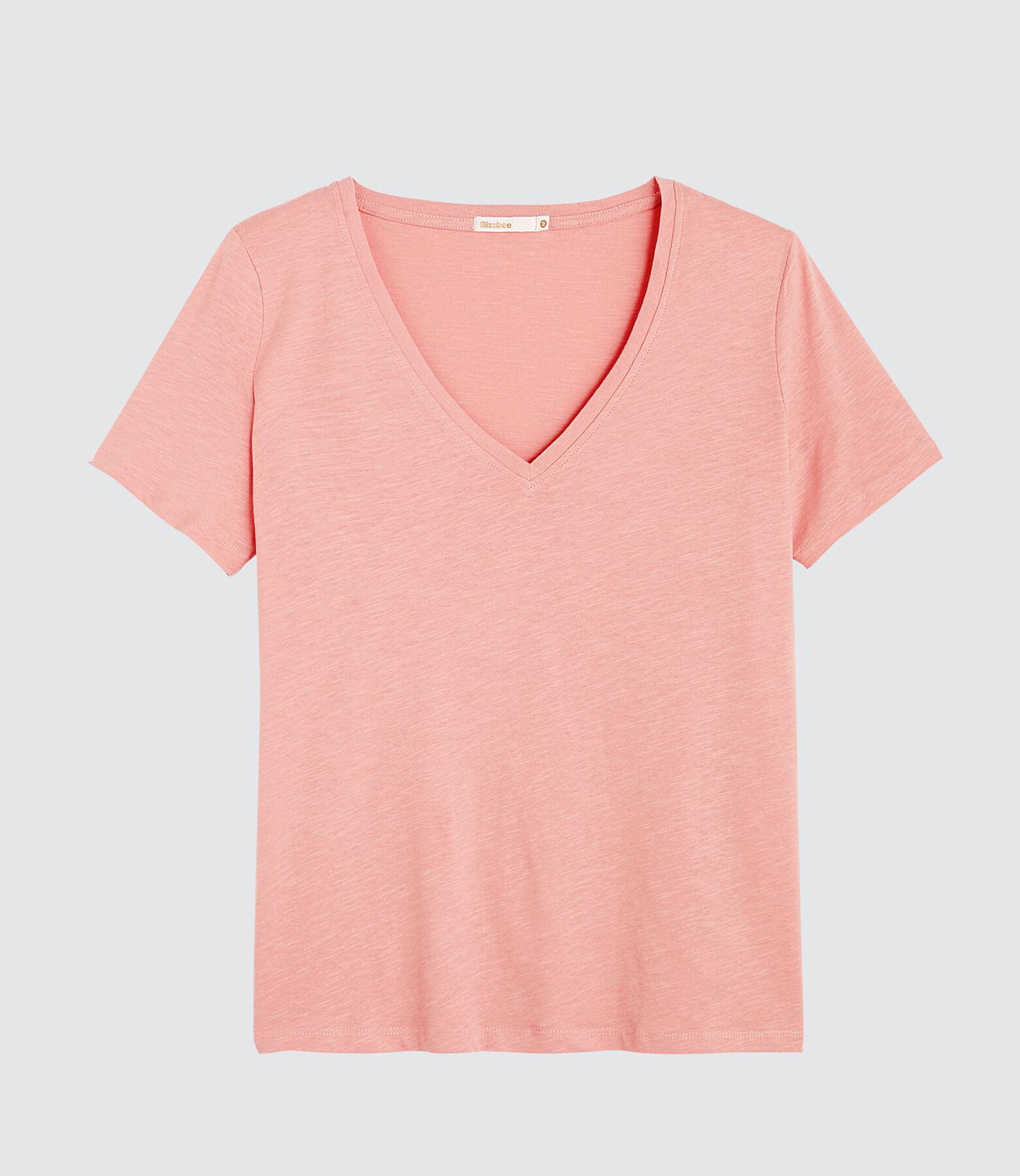 T-shirt col V uni