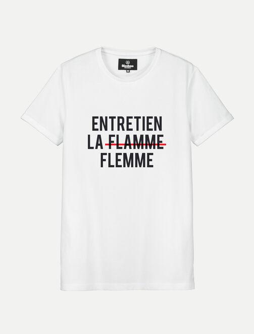 """T-shirt message """"Entretien la flamme"""" homme"""