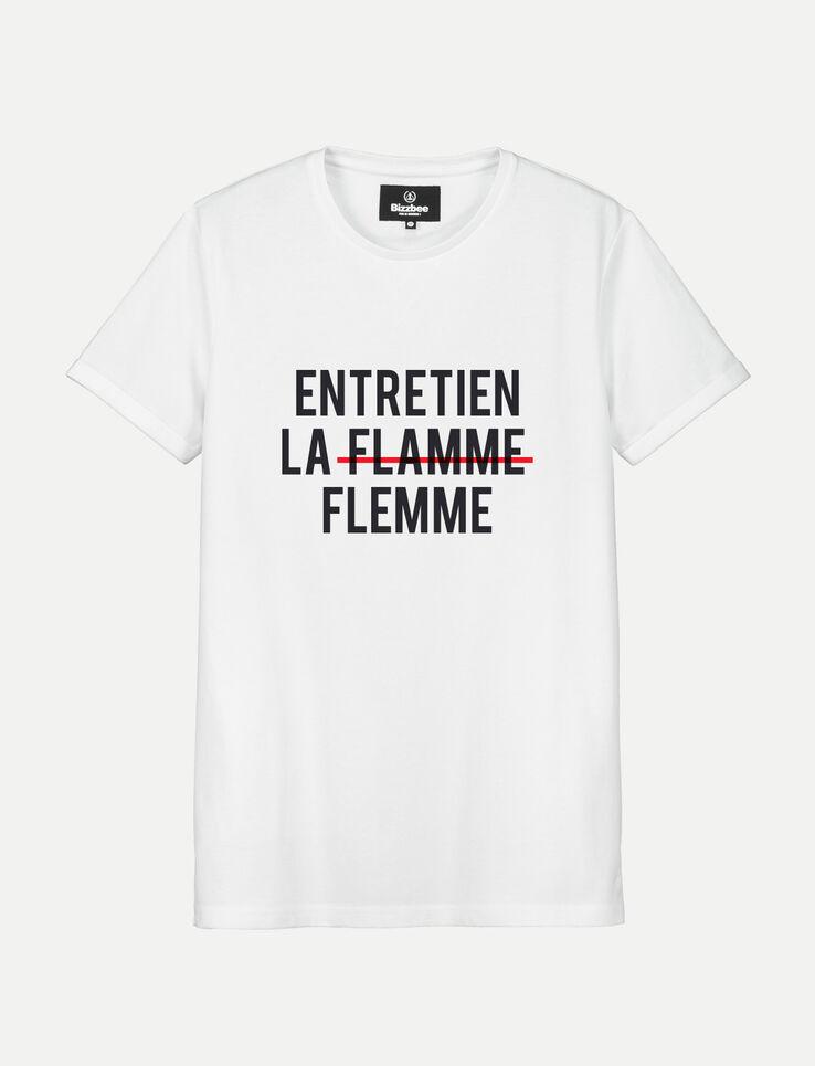 """T-shirt message """"Entretien la flamme"""""""