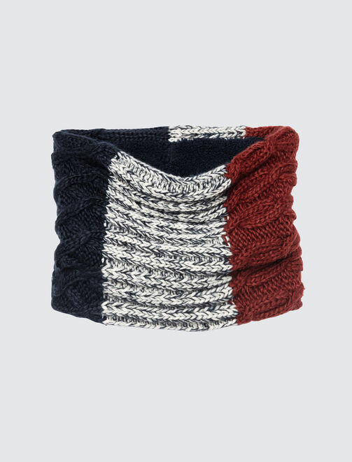 Snood Tricot Colorblock homme