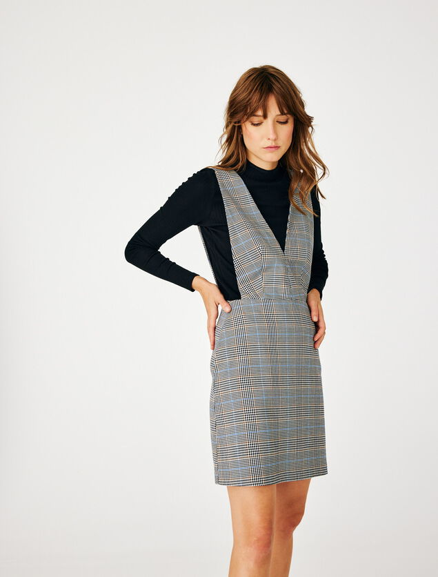 Robe chasuble carreaux