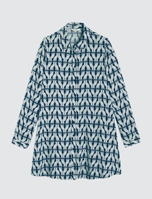 Robe chemise fluide femme