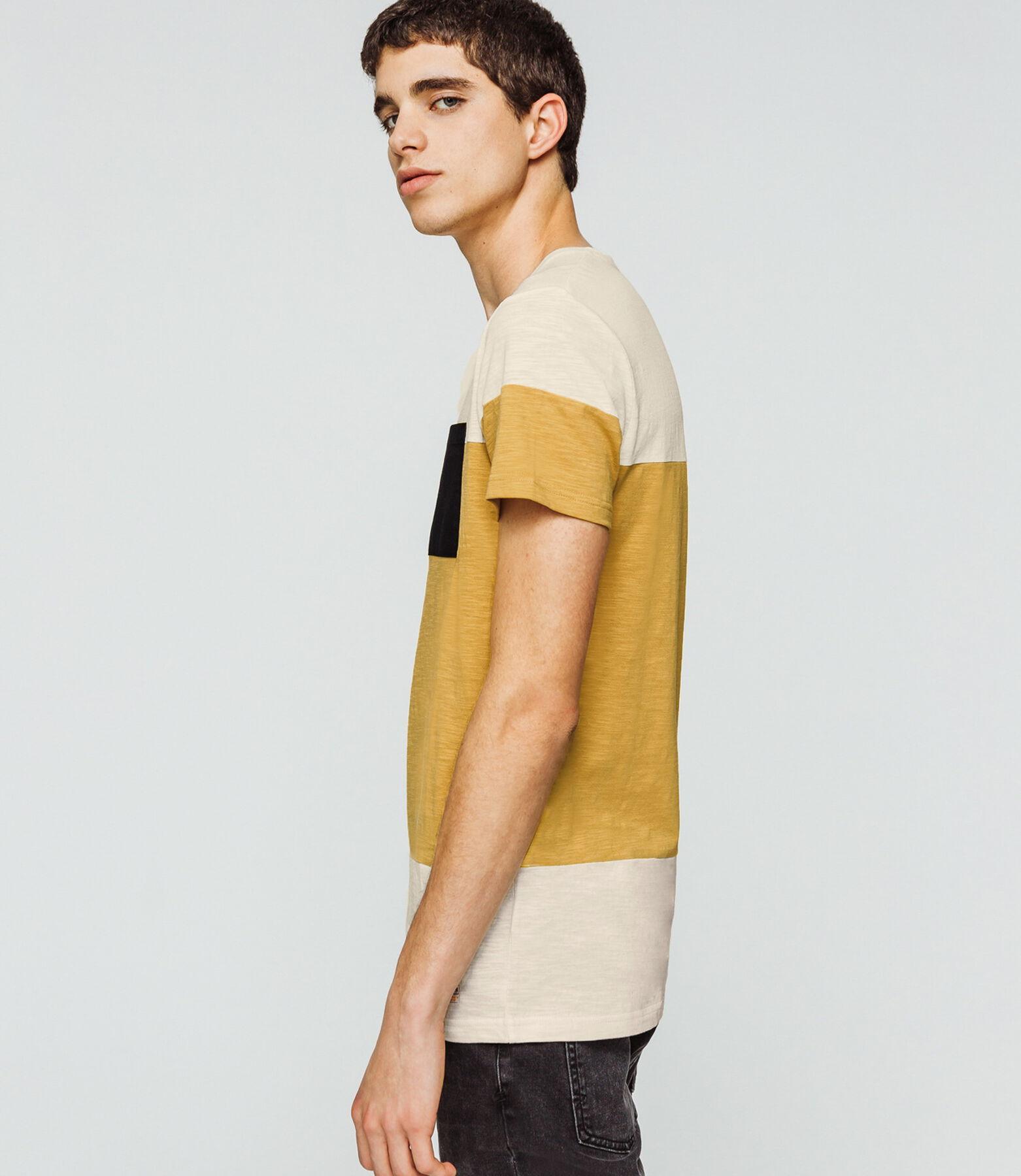 T-shirt color-block grosse rayure